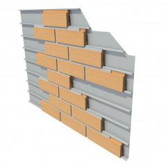 슬림벽돌 레일 시스템 1㎡ 44장 색상선택